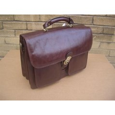 Woodland Leather Compartment Laptop Briefcase