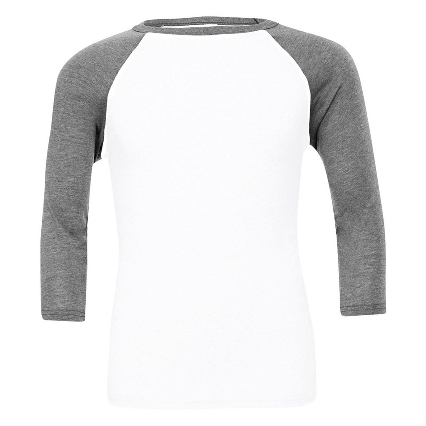 7d3581c0 Bella Canvas Adult's Triblend Raglan Sleeve Baseball T-Shirt BE100