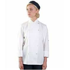 Dennys Unisex French Cuff Long Sleeve Chefs Jacket