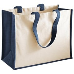 Westford Mill Printers Canvas Side Panel Classic Shopper Bag