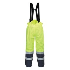 Portwest BizFlame Multi Arc Flame Chemical Resistant Hi Vis Trouser