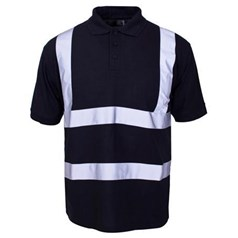 Supertouch Mens Hi Vis Polo Shirt in Navy