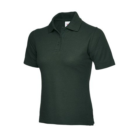 Ladies Poloshirt Bottle Green UC106