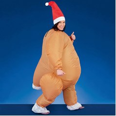 Christmas Shop Adult Inflatable Turkey Suit