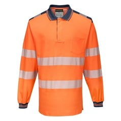 Portwest PW3 Hi-Vis Long Sleeve Polo Shirt