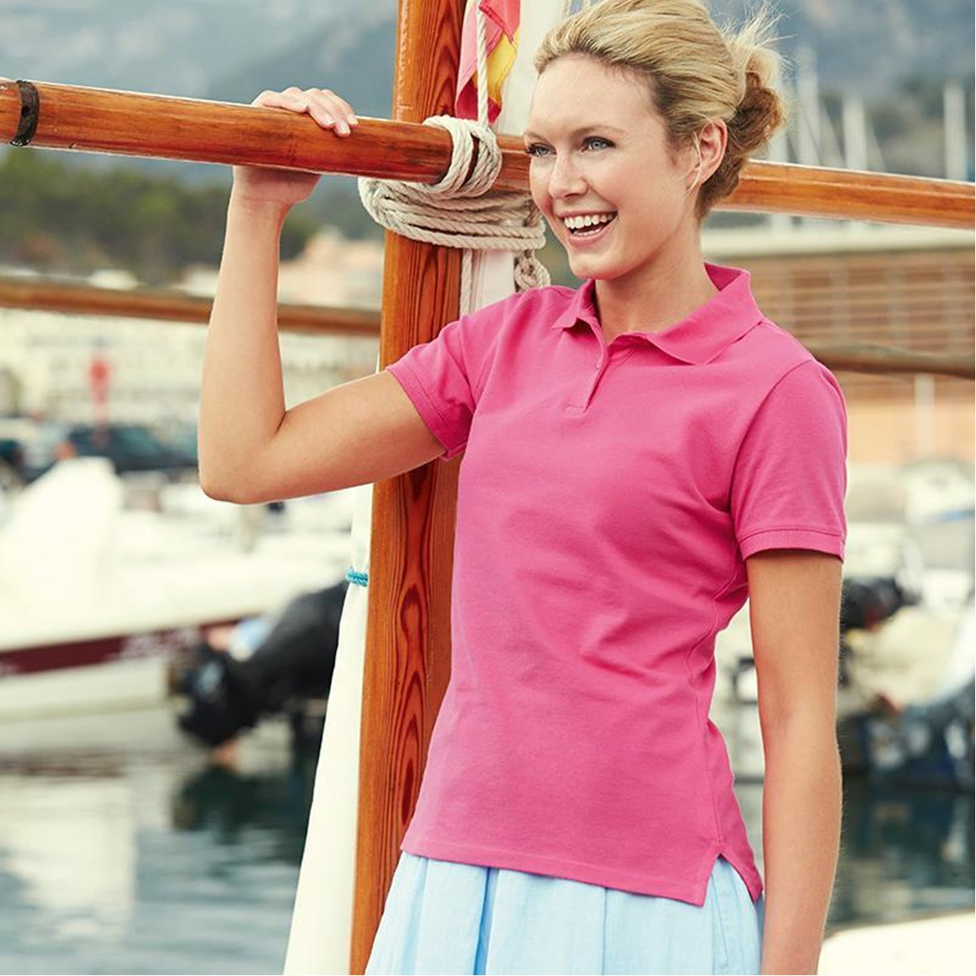 Fruit of the Loom Women s Lady-Fit Polo Shirt SS560 5fe7be0b2